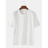 Solid Color Cotton Basic Round Neck Breathable Short Sleeve T-Shirts