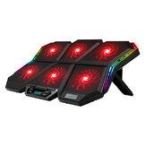Охлаждающие подставки для ноутбука Coolcold, игровой RGB-кулер для ноутбука, для 12-17-дюймового светодиодного экрана, охлаждающая подставка для н