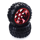 ZD 2pcs 3.6 Inch 150mm Monster Truck Wheels Rim and Tire for 1/8 Trx4 HSP HPI E-MAXX Savage Flux ZD Racing RC Car