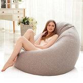 Lazy Bean Sofás Cubrir Sillas Relleno Paño de lino Tumbona Asiento Bean Bolsa Puf Puff Couch Tatami para sala de estar