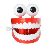 1Pc Clockwork Jumping Teeth Red Wind Up Funny Mouth Tooth With Eyes Flashing Novelties Trick Toys