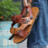 Men Two-ways Opened Toe Breathable Slip Resistant Casual Outdoor Sandals