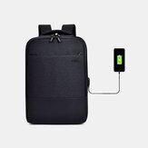 Heren Nylon USB-opladen Casual 15,6-inch laptoptas Reisrugzak met grote capaciteit