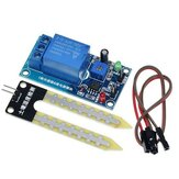 DC 12V Soil Moisture Sensor Relay Control Module Automatic Watering Detect Corrosion Resistance Probe Sensor for Gardening