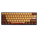 MechZone 108/130 Keys Desert Journey Keycap Set OEM الملف الشخصي PBT خماسية الجوانب Subliamtion Keycaps لـ 61/64/68/84/87/96/98/104/108 Keys Keys Keyboards