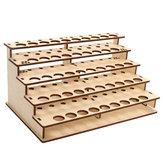 48 Holes Wooden Color Paints Bottle Storage Rack Holder Modular Organizer
