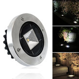Solar Powered White Warm White Impermeable IP65 Buried Light Lawn Lámpara para al aire libre Yarda