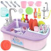 Symulacja zmywarka do naczyń grająca w zlewozmywak udawaj zestaw zabawek edukacyjnych dla dzieci prezent