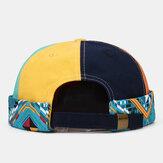 Banggood Design Men Six-color Stitching Outdoor Casual Beanie Landlord Cap Skull Cap