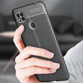 Bakeey per Xiaomi Redmi Custodia 9C Litchi Modello Pelle PU antiurto + TPU Soft Custodia protettiva Cover posteriore Non originale