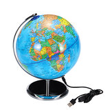 8inch Stand Rotating World Globe Map Kids Toy School Student Educational Gift