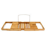 Bathtub Caddy Bamboo Bath Tub Holder Bathroom Tray Towel Glass Book Reading Rack Stand