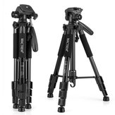 Mactrem PT55 Aluminum Alloy Camera Tripod with 3 Way 360 Degree Pan Head for DSLR SLR DV with Case