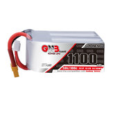 Gaoneng GNB 22.2V 1100mAh 50C 6S Lipo البطارية with XT60 / XT30 Plug for RC Racing Drone