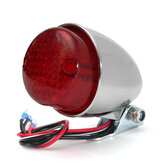 Universal 12V Motorcycle LED Rear Lamp Tail Brake Stop Running Light Black Chrome