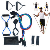 11PCS Home Workout Resistance Bands Set with Door Anchor Handles and Ankle Straps Muscle Training Equipment