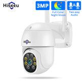 Hiseeu WHD303 3MP WIFI На открытом воздухе камера 1536p 5-кратный цифровой зум PTZ IP-аудио камера P2P OnVIF CCTV Мониторинг Беспроводная система видеонаблюдени