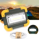30W portátil USB recarregável COB LED Camping Light Outdoor Work Spot Light para pesca Caminhada