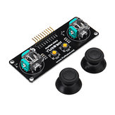 JoyStick 2 Channel PS2 Game Rocker Push Button Module Geekcreit para Arduino - produtos que funcionam com placas oficiais Arduino