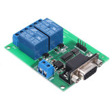 DC 12V 2 Channel RS232 Relay Module Board Remote Control USB PC UART COM Serial Ports for Smart Home