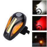 WHEELUPFanaleposterioreperbicicletta Carica USB 3 Colore chiaro 5 Flash Modalità Fanale posteriore per bici Sport all'aria aperta Escursionismo Equitazione Ciclismo Luce di sicurezza