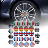 4x 56mm 3D Liga Roda Car Center Hub Cap Badge Flag Emblem Sticker Universal