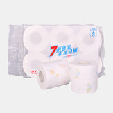 6 Rolls Printing 7-second Roll Paper Toilet Paper Hotel Soft Hydrated Wood Pulp Toilet Pape