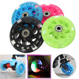 100mm LED Flash Light Up Wheels para Mini Micro Scooter con 2 rodamientos ABED-7