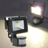 10W Warm White 800LM PIR Motion Sensor Outdoor Flood Lamp 85-265V AC