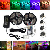 10M SMD 5050 Vandtæt RGB 600 LED Strip Light + IR Controller + Kabelstik + Adapter DC12V