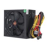 650W PC Power Unit Module Unité d'alimentation 24Pin SATA Quiet Green LED Ventilateur de refroidissement 14cm