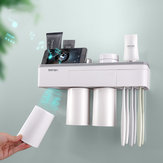 Automatic Magnetic Tooth Brush Holder Cups Wall Mount Stand