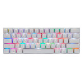 Motospeed CK62 Bluetooth USB Kabelgebundener Dual-Mode-Outemu-Schalter RGB Mechanical Gaming Keyboard