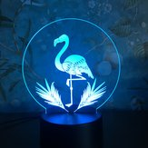 3D Night Light Touch цветful Flamingo LED Таблица Лампа День рождения