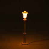 2szt. Biały uniwersalny DIY LED Ciepłe białe światło Latarnia do latarni do modelu Lego Street Building Shop