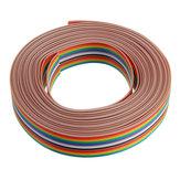 3 pcs 5 M 1.27mm Pitch Cabo de Fita 16P Cor Lisa Rainbow Ribbon Cable Fio Rainbow cabo