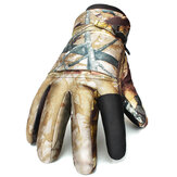 Men Women Warm Tactical Shooting Luvas impermeáveis ​​à prova de vento Full Finger Outdoor Ski Hunting Gloves