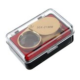 Golden 30 X 21mm Jeweler Loupe Magnifying Eye Glass Magnifier Nouveau