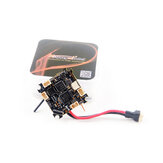 25.5x25.5mm Happymodel Crazybee X V1.0 F4 OSD Flight Controller 1-2S AIO 5A BL_S 4in1 ESC & 40CH 25mW VTX & Compatible Frsky D8/D16 RX for Whoop RC Drone FPV Racing