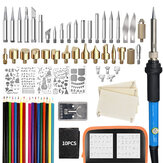 81Pcs Wood Burning Pen Set Stencil Soldering Iron Tips Tools Pyrography Kit