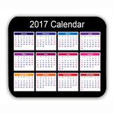 Calendário 2017 tapete do rato tapete do rato antiderrapante do jogo do PC