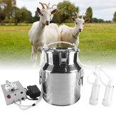 14L Electric Milking Machine for Goat 110/220V Pulsating Milking Machine Stainless Steel Milker Bucket Farm Livestock Tool
