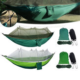 2 Person Hammock with Netting Mosquito Washable Lightweight Swing Sleeping Bed Camping Hiking Travel Max Load 300kg