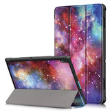 Tri-Fold Печатный планшет Чехол Чехол для планшета Lenovo Tab E10 - галактика Млечный путь