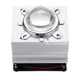 DC12V 20-60W Aluminium LED Heat Sink Cooling Fan 60° 120° 44mm Lens + Reflector Brack+ Fixed Bracket