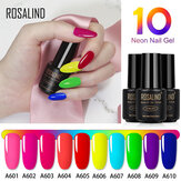 ROSALIND 7ml 10 Color Soak Off Salon UV LED Unhas Polonês em gel