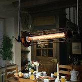 Industrial retro vintage flauta colgante lámpara barra de cocina colgando de luz de techo