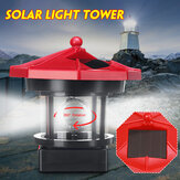 LED Rotating Lighthouse Solar Light Tower Top Garden Yard Lawn Lamp Outdoor Landscape Lighting