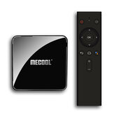 Mecool KM3 ATV S905X2 4 Go LPDDR4 64GB Android 10.0 5G WIFI BT4.0 Commande vocale 4K HDR TV Box Prise en charge certifiée Google Prise en charge de la vidéo 4K Youtube Prime Video