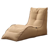 YISHE Lazy Bean Bag Sofa Cover Back Support Leisure Lounger Seat Couch without Filling